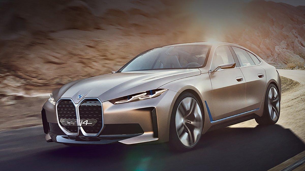 Презентація електромобіля BMW Concept i4: 600 км без підзарядки і прем'єра нового дизайну BMW