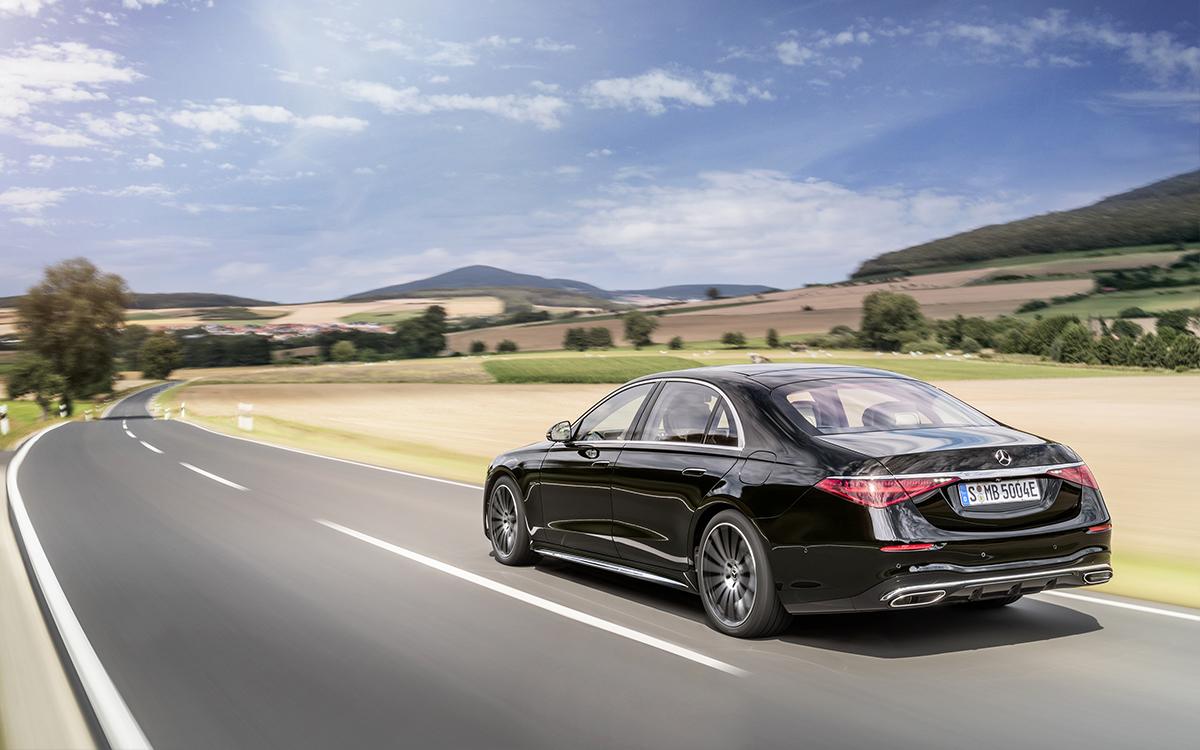 Mercedes-Benz S-Klasse, 2020, Outdoor, Fahraufnahme, Exterieur: Onyxschwarz // Mercedes-Benz S-Class, 2020, outdoor, driving shot, exterior: onyx black